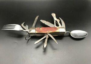 "Vintage 5"" VALOR Made In Japan Folding Utility Camping Survival Knife"