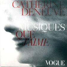 Catherine Deneuve CD Sampler Les Musiques Que J'Aime - Promo - France (VG+/EX)