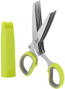 Herb Scissors - Heavy Duty 5 Blade Kitchen Shears with Safety Cover-Abllore