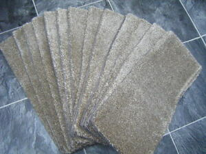 56 x 21 cm 12x THICK PILE STAIR PADS, LUXURY DOMESTIC light brown * #1344 /1346