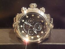 Invicta 1539 Mens Reserve Venom Chronograph Black Dial Stainless Steel Watch HTF