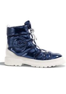 CHANEL Metallized Blue Short Boot NIB Size 41 / 11