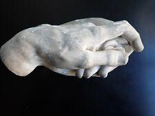 Main en plâtre, signé Juliano de Medici par Michael Angelo.