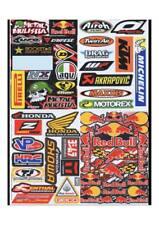 4 Mixed Sheets Sticker Decal Car ATV Bike Racing Helmet Motorcross Dirt BMX #4
