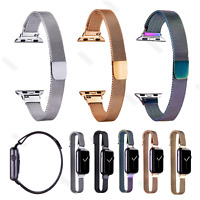 Customized Slim Narrow Milanese Wristwatch Bands Strap For Apple watch 38 42mm