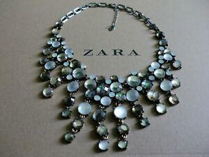 Zara Ethno mega statement Kette necklace boho top Blogger edel Perlmutt Collier