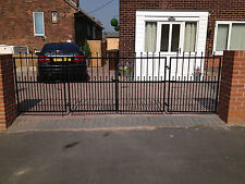 WROUGHT IRON DRIVEWAY GATES CONCERTINA STYLE