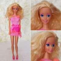 Mattel Barbie Fashion Play 1990 Neon Pink Canadian Issue Retro Pretty