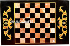 """36"""" x 24"""" Marble Chess Table Top Inlay Pietra Dura Floral handicraft Art Work"""