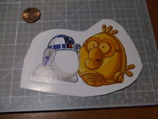 ANGRY BIRDS STAR WARS DROIDS PIG  DECAL STICKER NEW ACTUAL PATTERN