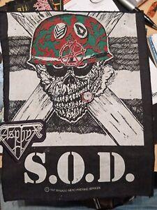 S.O.D. Stormtroopers Of Death Backpatch Original von 1987 rar