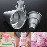 DIY Mini 3-Tier Cupcake Pudding Chocolate Cake Mold Baking Pan Mould Party uu Eh