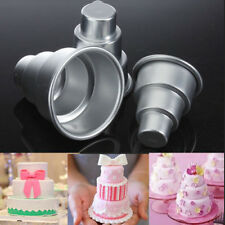 DIY Design Mini 3-Tier Cupcake Chocolate Pudding Cake Mold Baking Pan Mould  BE