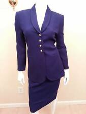 Womens Suit VINTAGE Kasper NWT $239 Royal Purple Blue Wool Dress Business Skirt