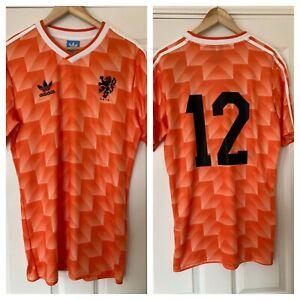 Holland 1988 Home Retro Shirt #12 Van Basten Large