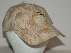 Tommy Bahama Linen Hat / Cap Adjustable Strapback Blue Or Tan Fish NWT