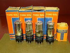 4 Tung-Sol Type 19 Radio/Audio Tubes, Dual Power Triodes, NOS