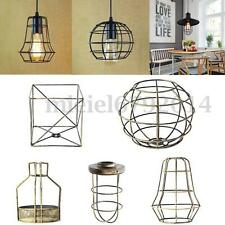 Edison Iron Vintage Lampshade Balloon Ceiling Light Fitting Lamp Cage Bar Cafes