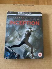 Inception 4K Ultra HD (UHD) Steelbook Blu-ray NEW & SEALED Leonardo Di-Caprio