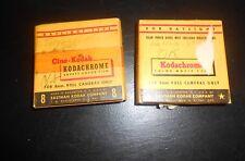 2X Vintage 1950s Kodak Kodachrome Cine-Kodak  8mm Movie Used Films