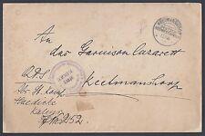 GERMANY SUDWESTAFRIKA 1907 KEETMANSHOOP OFFICIAL COVER TO FELDREGIMENT 2 ARRIVAL