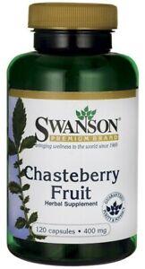 Swanson  Chasteberry Fruit, 400mg  - 120 caps  Free P&P