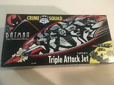 "NIB 1995 BATMAN THE ANIMATED SERIES CRIME SQUAD ""TRIPLE ATTACK JET"" 3 IN 1"