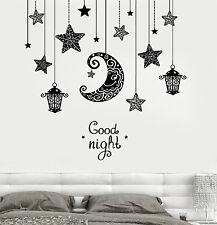 Wall Decal Moon Stars Light Romanic Sticker Bedroom Vinyl Decal (z3191)