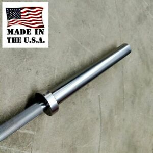 NEW Hammer Clad American Made Bare Steel 45lb Barbell 1000lb Capacity