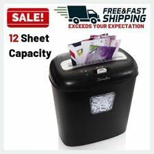Cross Cut Paper Shredder 12 Sheet Capacity Junk Mail Office Equipment Supplies