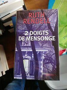 Livre Ruth Rendell '2 Doigts De Mensonge' Neuf