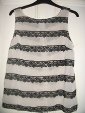 LACED STRIPED TOP SIZE 10