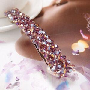Bling Crystal Hairpins Rhinestone Hair Clip Pins Barrettes Women Girls Headwear