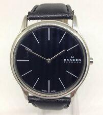 Men's SKAGEN 858XLSLB Quartz Watch. 39mm Case. Black Dial. Water Resist 30M