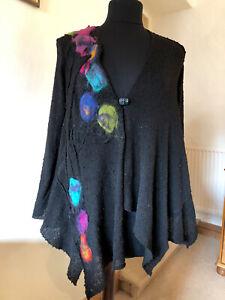 Zuza Bart Lagonlook Stunning Cotton Jacket with Wool Appliqué