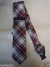 New $65 Tommy Hilfiger Men's 100% Silk Neck Tie Multi-color Tartan Plaid
