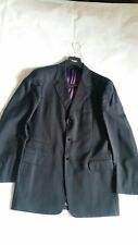 Paul Smith Navy Stripy Wool Mens Suit Jacket Size 38
