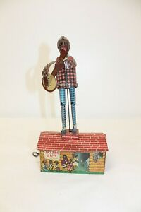 Vintage Strauss JAZZBO JIM Dancer on The Roof Tin Litho Wind-Up