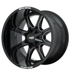 "(4) 18x10"" Moto Metal Wheels MO970 Gloss Black w Milled Spoke Off Road Rims(B43)"