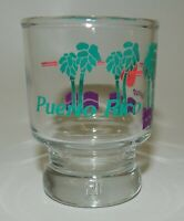 Vintage Puerto Rico Palm Trees at Sunset Souvenir Shot Glass