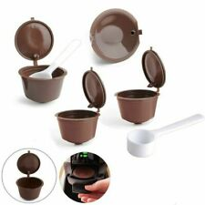 4x Capsule café réutilisable rechargeable capsules + 2 Cuillère pour Dolce Gusto