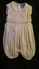 B:One piece outfit light  pink with smocking