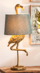 Ibis Crane Flamingo Bird Table Lamp Coastal Regency Glam Anthropologie Style