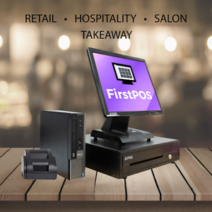 FirstPOS 17in Touch Screen POS EPOS Cash Register Till System Coffee Shops/ Cafe