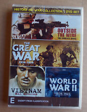 HISTORY of WAR COLLECTION 5 DVD  Set,WWI,WW2 Vietnam & Iraq  free post