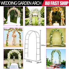 Metal Garden Arch Wedding Arch Outdoor Gate Patio Climbing Frame Arches 240cm AU