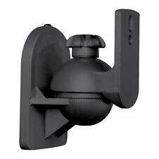 1 Universal Satellite Speaker Black Wall Mount Bracket fits Bose Sony Yamaha JVC
