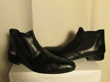 boots/bottines  Jean louis SCHERRER cuir noir pointure 45