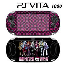 Sony PS Vita PSV 1000 Skin Decal Sticker Vinyl Wrap Monster High Ghoul Hot Pink