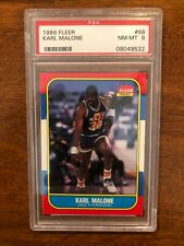 1986 Karl Malone Fleer #68 Rookie RC PSA 8 NM-MT!